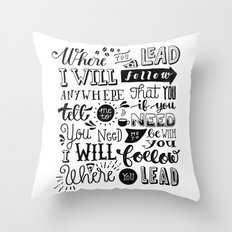 Where You Lead | Gilmore Girls Throw Pillow