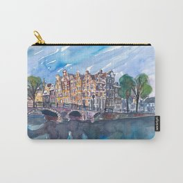 Amsterdam Netherlands Canal Sunset On Prinsengracht Carry-All Pouch