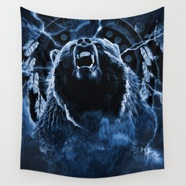 CHIEF CHARGING BEAR Wall Tapestry