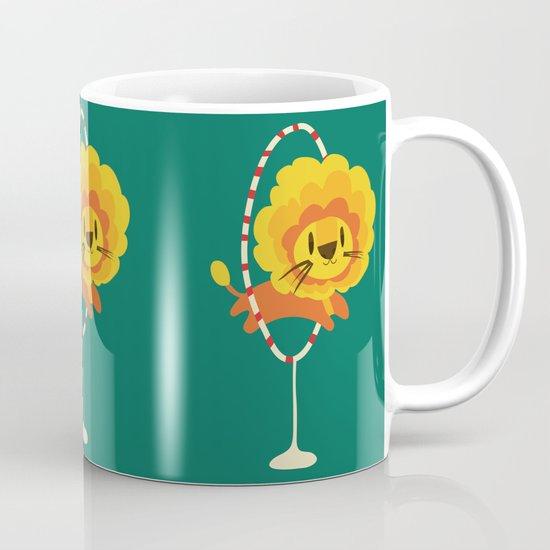 Lion hopped through a loop Coffee Mug