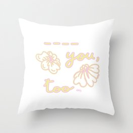 Fill in the Blanks! Throw Pillow