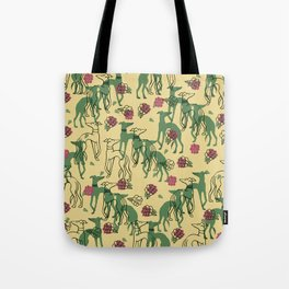 Greyhounds and Roses Tote Bag