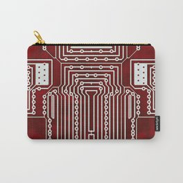Red Geek Motherboard Circuit Pattern Carry-All Pouch