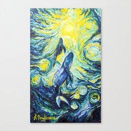 Whales. Ocean life Canvas Print
