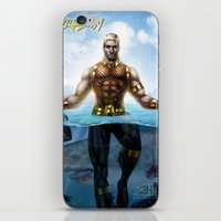 aquaman iPhone & iPod Skins featuring Aquaman by Art By AntB