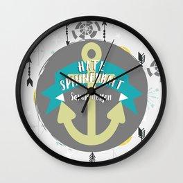 Hate Spinnerbait - Sarah Dessen Wall Clock