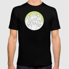 Group of Owls MEDIUM Black Mens Fitted Tee