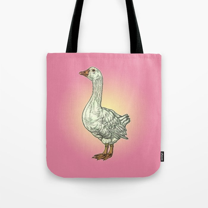 White Goose: Side View Tote Bag