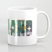 portland Mugs featuring Portland by Tonya Doughty