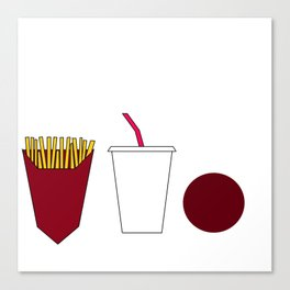Aqua teen hunger force minimalist  Canvas Print