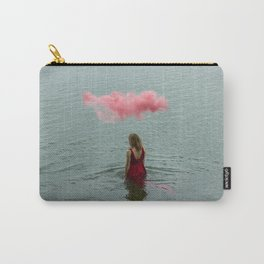 Beautiful woman swimming at the sea. Carry-All Pouch