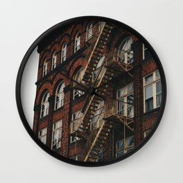 Fire Escape With Me Wall Clock