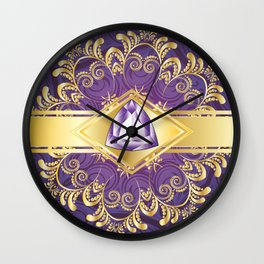 Decorative Background with Amethyst Wall Clock