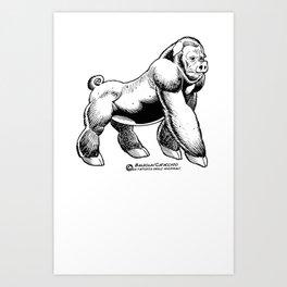 GORILLA PIG Art Print