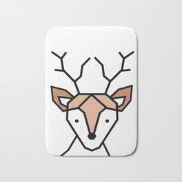 Little Deer Art Print, Geometric deer Bath Mat