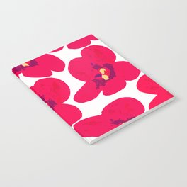 Red Retro Flowers #decor #society6 #buyart Notebook