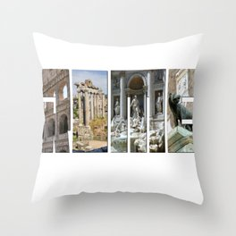 The monuments of Rome Throw Pillow