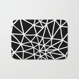 black and white triangle web II Bath Mat