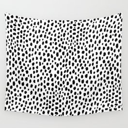 Dalmatian Spots (black/white) Wall Tapestry
