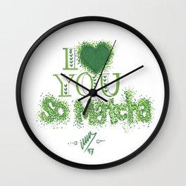 I love you so matcha Wall Clock