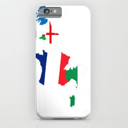 Map Of She Six Highest Ranked Rugby Teams iPhone Case