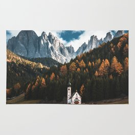 santa maddalena church in val di funes Rug