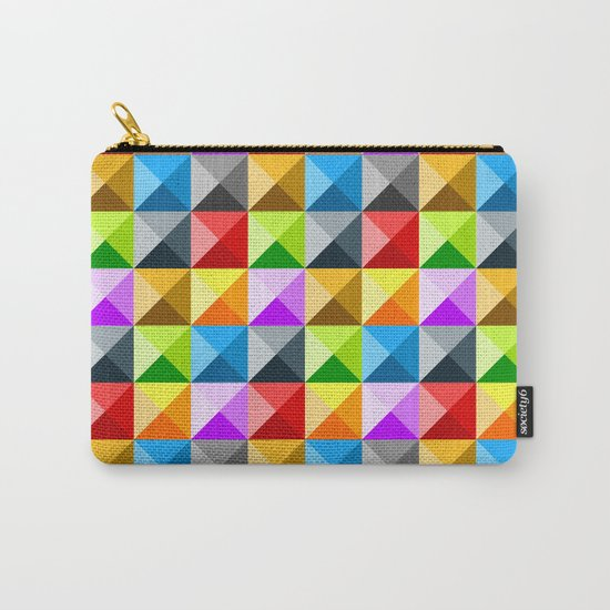 Colorful quarter square triangle pattern Carry-All Pouch