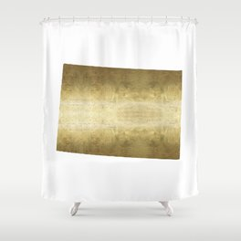 colorado gold foil state map Shower Curtain