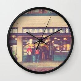 Seattle Starbucks photograph. A Star is Born Wall Clock