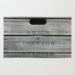 Old wooden box from overseas Rug
