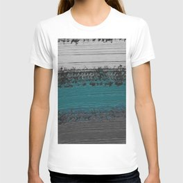 Teal and Gray Abstract T-shirt