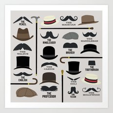 Moustache Styles Art Print