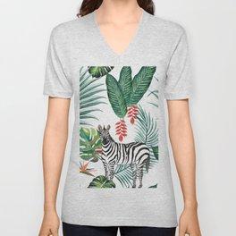 Nature Zebre pattern Unisex V-Neck