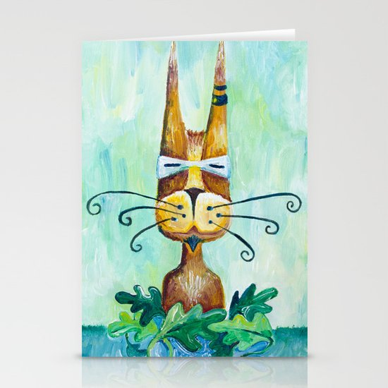 Roofus Whiskers The Cat Stationery Cards