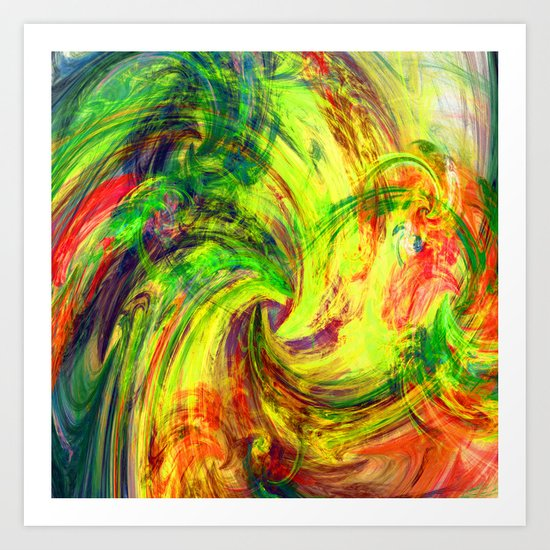 i love colours Art Print
