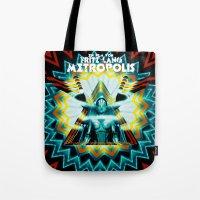 metropolis Tote Bags featuring METROPOLIS by Tia Hank