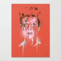 bowie Canvas Prints featuring Bowie by Marcello Castellani