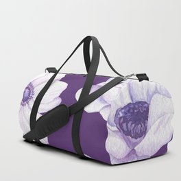 Anemones 2 Purple #society6 #buyart Duffle Bag