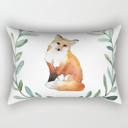Fox Wreath Rectangular Pillow
