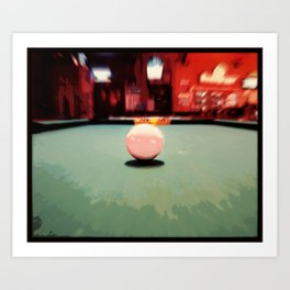 Cue Ball Abstract  Art Print