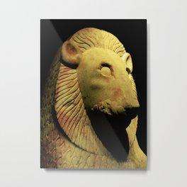 Lion Statue 02 Metal Print