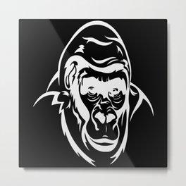Monkey Chimpanzee Primate Banana Gorilla Metal Print