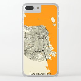 San Francisco Map Moon Clear iPhone Case