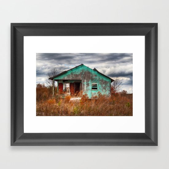 Lonely Old House on the Hill 2 Framed Art Print
