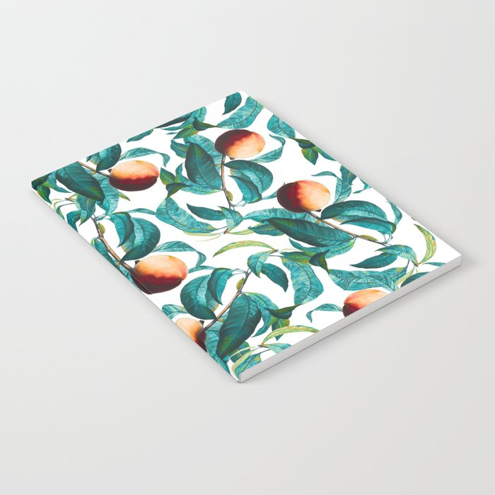 Fruit and Leaf Pattern Notebook