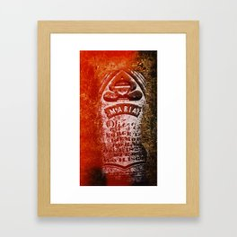 Maria count me in Framed Art Print