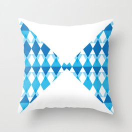 A blue bow tie Throw Pillow