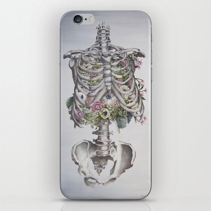 Floral Anatomy Skeleton iPhone Skin
