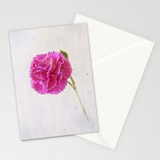Carnation on paper Stationery Cards