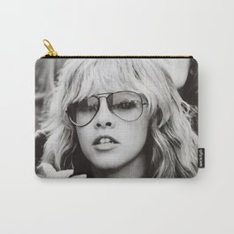 Stevie Nicks Young Black and white Retro Silk Poster Frameless Carry-All Pouch
